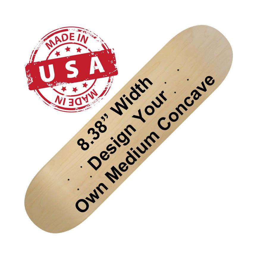 "8.38"" wide skateboard printing"