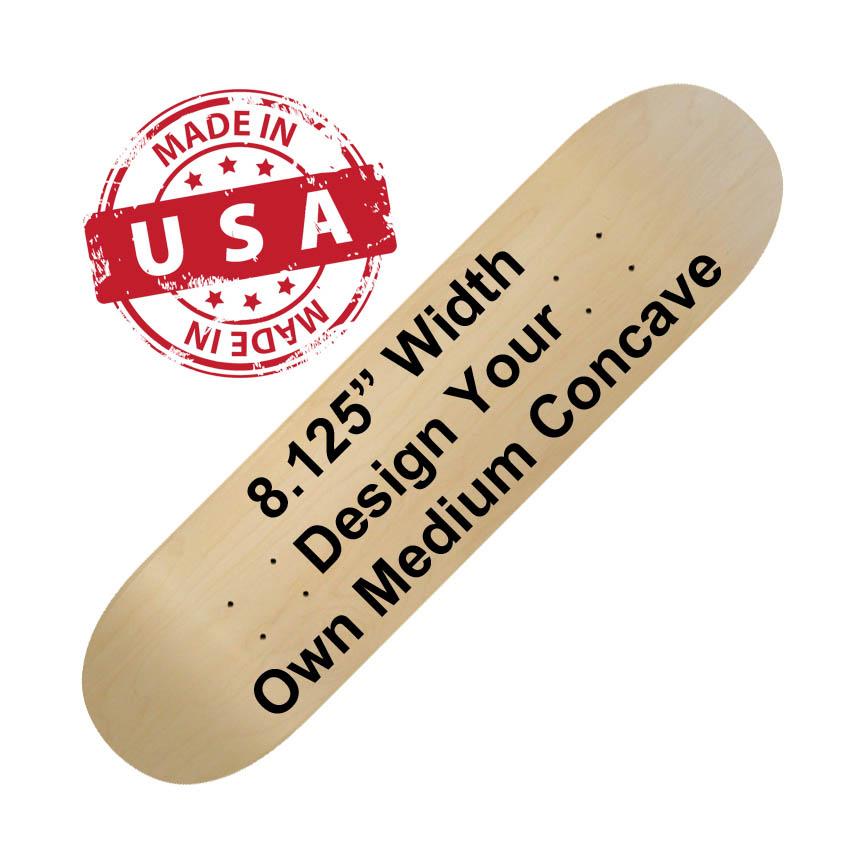 medium 8.125 skateboard printing